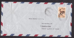 Somalia: Airmail Cover To Germany, 1969, 1 Stamp, Gazelle, Animal, Rare Real Use (roughly Opened) - Somalië (1960-...)