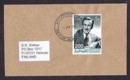 Somalia / Somaliland: Cover To Finland, 2001, 1 Stamp, Walt Disney, Rare Real Use (traces Of Use) - Somalie (1960-...)