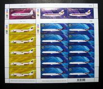 Thailand Stamp FS 2010 50th Ann Of Thai Airways International - Thailand