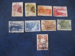 MACAU 1948/51 Yvert 325 325A 326A 327 329 330A 331 331A 332B (Cat Year 2008: 38,75 Eur) Macao Portugal China Area - Macao