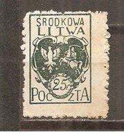 Lituania Central Nº Yvert  23 (MH/*) - Lituania