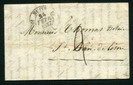 LETTRE  DU  22  FEVRIER  1837 DE   NUITS  A  DESTINATION  DE  SAINT-JEAN-DE-LOSNE - Marcophilie (Lettres)