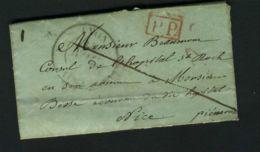 LETTRE  DU  14  OCTOBRE  1806  DE   LYON  A  DESTINATION  DE  NICE ,  A VOIR . - Marcophilie (Lettres)