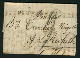 LETTRE  DU  14  MAI  1827   A  DESTINATION  DE  LA ROCHELLE  . - Marcophilie (Lettres)