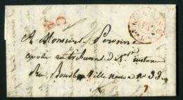 LETTRE  DU  12  DECEMBRE  1838  A  DESTINATION  DE  ?   A VOIR  . - Marcophilie (Lettres)