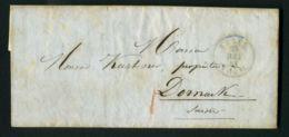 LETTRE  DU  24  JUILLET  1853 DE  RHOTZHEIM  A  DESTINATION  BASEL  SUISSE . - 1849-1876: Période Classique