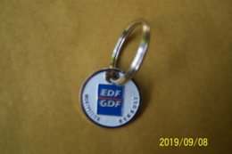 Jeton De Caddies Métal - EDF/GDF - 50éme Anniversaire 1946/1996 - Montpellier - Jetons De Caddies