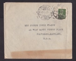 Soviet Union-USSR: Cover Moscow To USA, 1924, 1 Imperforated Stamp (damaged, See Scan) - Storia Postale