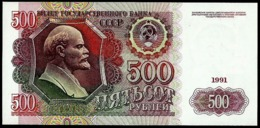 RUSSIA, USSR 500 RUBLES 1991 AB Lenin / Kremlin P-245 NICE UNCIRCULATED - Russia