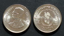 Thailand Coin 2 1986 Year Of Peace Y180 UNC - Thaïlande