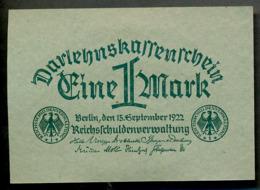 Pick 61a Ro 73a DEU-192   1 Mark 1922  UNC ! - [ 3] 1918-1933 : République De Weimar