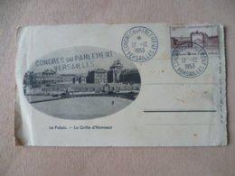 CACHET CONGRES DU PARLEMENT VERSAILLES 1953  SUR DOCUMENT - Postmark Collection (Covers)
