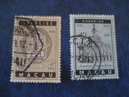 MACAU 1952 S. F. Xavier Yvert 358 + 359 (Cat Year 2008: 9 Eur) Macao Portugal China Area - Macao