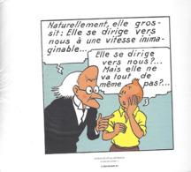 """1 EX-LIBRI """" TINTIN """"  HERGÉ-MOULINSART 2011   Extrait De L'Etoile Mystérieuse  -  Planche5  Strip 2 - Altri Oggetti Fumetti"""