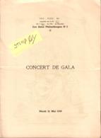 Vrijmetselarij, Franc-Maçonnerie, Les Amis Philantropes, Bruxelles, Concert Gala 31 Mai 1938, COLLECTORS - Historical Documents