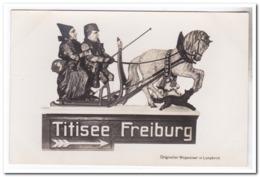 Titisee Freiburg, Origineller Wegweiser In Lenzkirch - Duitsland