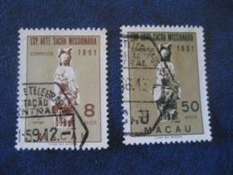MACAU 1953 Art Missionnaire Sacre Yvert 360 + 362 (Cat Year 2008: 8 Eur) Macao Portugal China Area - Macao