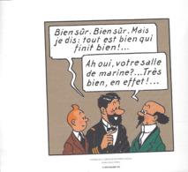 """1 EX-LIBRI """" TINTIN """"  HERGÉ-MOULINSART 2011   Extrait De Le Trésor De Rackham Le Rouge  -  Planche 62   Strip 2 - Altri Oggetti Fumetti"""