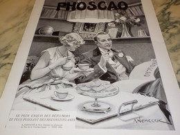 ANCIENNE PUBLICITE DEJEUNER EXQUIS CHOCOLAT PHOSCAO 1932 - Affiches