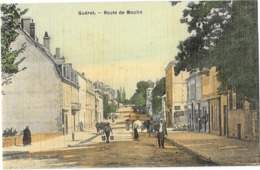 GUERET (23) Route De Moulin Animation Carte Toilée Couleur - Guéret