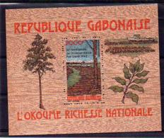 Gabon : BF, Bloc N° 43 Neuf ** - Bloc Sur Bois - Cote (Y&T 2006) : 39€ - Gabon (1960-...)