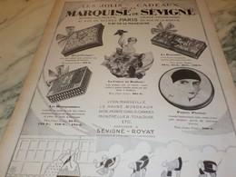 ANCIENNE PUBLICITE LES JOLIS CADEAUX LA MARQUISE DE SEVIGNE  1927 - Affiches