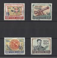 YOUGOSLAVIE.   YT  N° 656/659  Obl  1954 - Neufs