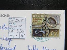 """2015  """" IONIA """" Auf Karte, Blauer Stempel   LOT 320 - Litauen"""