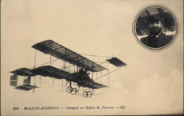 CPA. -  Aviation > Aviateurs > Roanne-Aviation - CHAMPEL, Sur Biplan FARMAN - TBE - Piloten