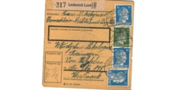 Allemagne  - Colis Postal  - Départ Lechenich Land  - 11-1-43 - Allemagne