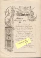Vrijmetselarij, Franc-Maçonnerie, Dîner Antimaçons, 1907, Uitzonderlijk Origineel Document!!!!! - Documentos Históricos