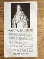 Gebed Van De H. Maagd, Imprimatur Namurci Antwerpen 1962 - Devotieprenten