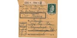 Allemagne  - Colis Postal  - Départ Trier  - Civil Kleidung - Allemagne