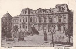 AK Bukarest - Königliches Schloss - Feldpost Landw-Feldlazarett 20 - 1917  (43384) - Rumänien