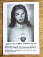 Zuster Consolata Betrone Capucinessen Testona Pater Gust Van Gysel Rupelmonde - Devotieprenten