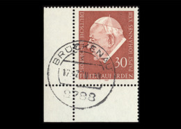 BRD 1969, Michel-Nr. 609, Papst Johannes XXIII, Eckrand Links Unten, Gestempelt - Usados