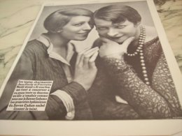 ANCIENNE PUBLICITE JANE PIERLY ET PIERETTE MADD ET SAVON CADUM  1927 - Perfume & Beauty