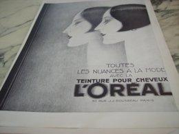 ANCIENNE PUBLICITE TOUTES LES NUANCES L OREAL 1927 - Perfume & Beauty