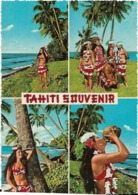 TAHITI-LA BEAUTE DE TAHITI N'A D'EGALE QUE CELLE DE SES JEUNES HABITANTES-TAHITI SOUVENIR-CPSM Multivues Grand Foramt - Tahiti