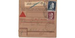 Allemagne  - Colis Postal  - Départ Leipzig   - 7-12-42 - Allemagne