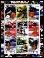 FORMULE 1 -  HAKKINEN SCHUMACHER VILLENEUVE - BLOC FEUILLET DE 9 VIGNETTES NEUVES ** - Automobile - F1