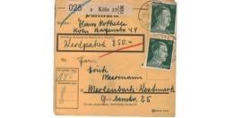 Allemagne  - Colis Postal  - Départ Köln    - 19-1-43 - Allemagne