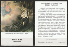 # Santino - Santa Rita Agostiniana - Colletta Di S. Rita, Olio Su Tela (C.G. Bertelli) - Santini