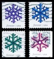 Etats-Unis / United States (Scott No.5031-34 - Flocon De Neige / Snow Flake) (o) P2 Série / Set - Used Stamps