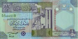 Libya 1/2 Dinar (P63) -UNC- - Libye