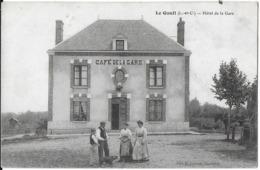 LE-GAULT-DU-PERCHE 41 LOIR-ET-CHER HOTEL DE LA GARE EDIT. LECOMTE - Autres Communes