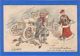 """ILLUSTRATEURS Signés - Par Montaut """"un Très Honorable Gentleman Après Avoir...."""" - Künstlerkarten"""
