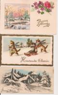 L32d508 - Bonne Année - Lot De Trois Petites Cartes - New Year
