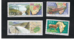 SUD AFRICA (SOUTH AFRICA) - SG 700.703     - 1990   COOPERATION IN SOUTHERN AFRICA (COMPLET SET OF 4)   - USED ° - Usati