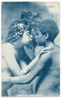 CPA NEUVE / FILLE EMBRASSANT UN JEUNE HOMME NUS / FASCINATION - Kinderen